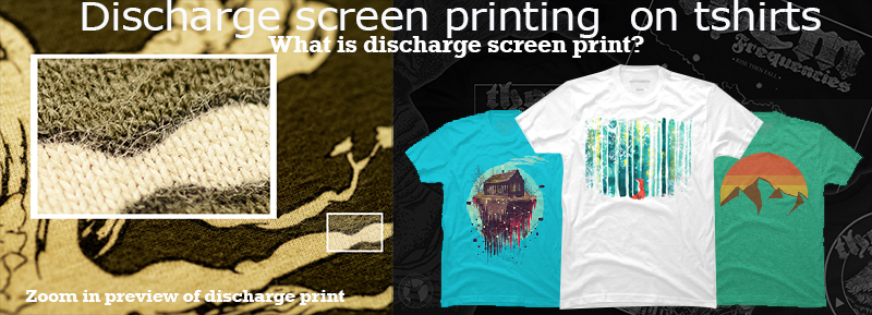 What is Discharge Screen Printing on T-Shirts?