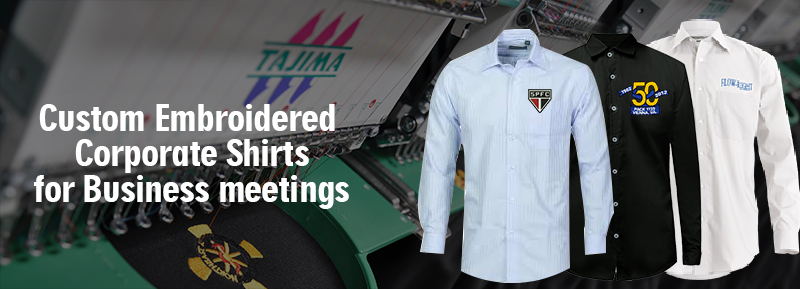 Custom Embroidered Corporate  Shirts for Business meeting