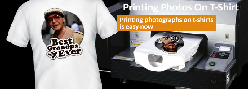 What are the various techniques to print photographs onto T-Shirts?