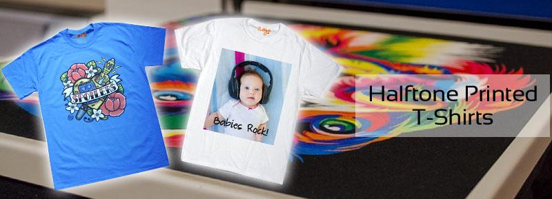Halftone Printed T-Shirts