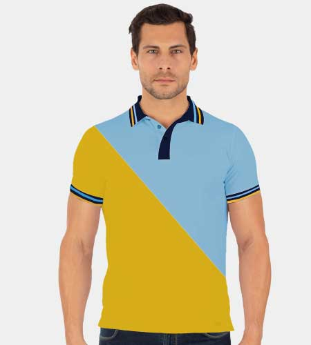 Tailormade Cross Panel Cut and Sew Double Tipping Polo Shirt