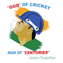 Cricket  SACHIN-MAN-OF T-Shirt