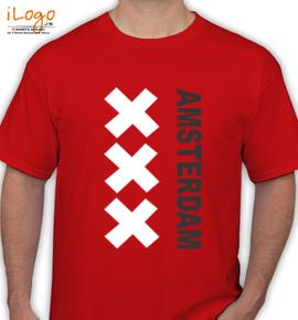 amsterdam-red-t-shirt - T-Shirt
