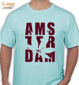 Ash-Amsterdam-Weed-Typo-Men-s-T-Shirts - T-Shirt