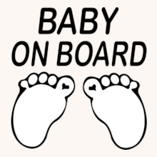 baby-on-board-feet-mini-t-shirt T-Shirt