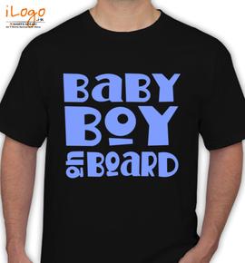 Blue-Baby-Boy-On-Board-Maternity-T-shirt - T-Shirt