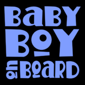 Blue-Baby-Boy-On-Board-Maternity-T-shirt