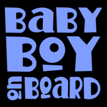 Blue-Baby-Boy-On-Board-Maternity-T-shirt T-Shirt