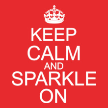 Keep-Calm-n-Sparkle-On T-Shirt