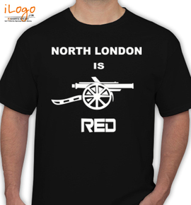 india north london is red - T-Shirt