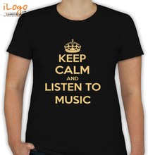 keep-calm-and-listen-to-music T-Shirt