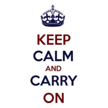 Keep Calm keep-calm-and-carry-on-blue-red T-Shirt