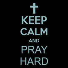 Keep Calm keep-calm-and-pray-hard T-Shirt