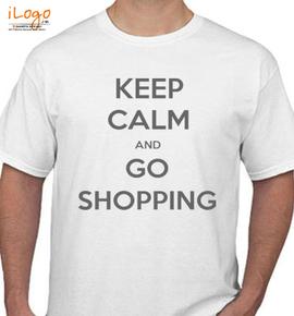 keep calm and go shopping - T-Shirt