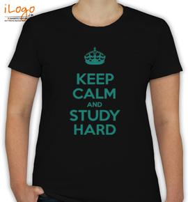 keep calm and study hard - T-Shirt [F]