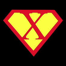 Super Heros SUPERMAN-X T-Shirt