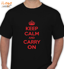 keep calm and carry on - T-Shirt