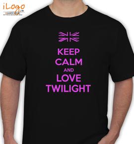 keep calm and love twilight - T-Shirt