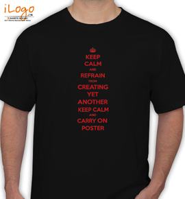 84cb440b Personalized Men's T-Shirt. ceep clem and refrain from creating yet another keep  calm and carry on poster
