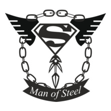 Super Heros SUPERMAN-of-steel T-Shirt