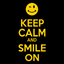 KEEP-CALM-AND-smile-on T-Shirt