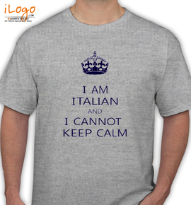 KEEP CALM AND i cannot - T-Shirt