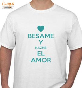 KEEP-CALM-AND-y-hazme-el-amor - T-Shirt