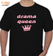 koolkidstees-drama-queen-with-crown-graphic-kid-s-t-shirt-in-black-design T-Shirt