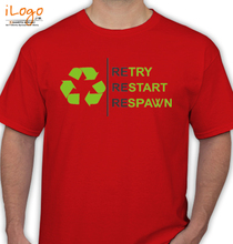 Gaming retary-restart-respawn T-Shirt