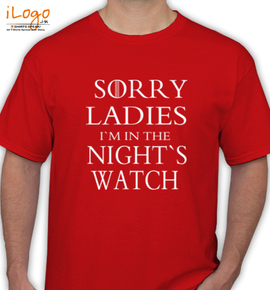 SORRY LEDIES - T-Shirt