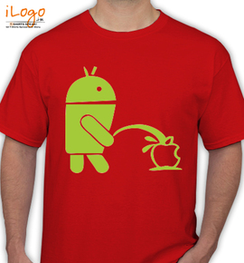 Android pee on Apple - T-Shirt