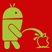 Android-pee-on-Apple T-Shirt
