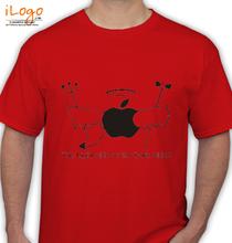 Funny Apple-Side T-Shirt
