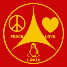 Retro Linux-Peace T-Shirt