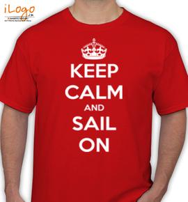 keep-calm-sail-on-king - T-Shirt