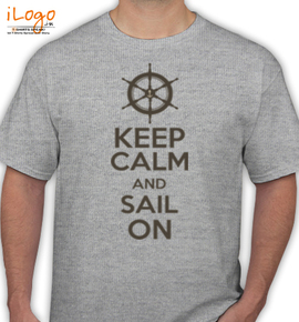 keep-calm-sail-on-well - T-Shirt