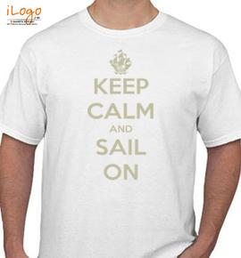 keep-calm-sail-on-ship - T-Shirt