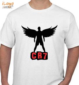 cristiano ronaldo real madrid tshirt india cr wings grey melange  - T-Shirt