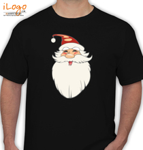 Christmas black-santa T-Shirt