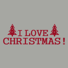 i-love-christmas-time-red T-Shirt