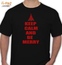 Christmas Keep-Calm-and-Be-Merry-Christmas T-Shirt