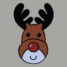 Mens-Blue-Reindeer-Christmas T-Shirt