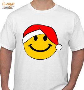 Santa Smiley Face - T-Shirt