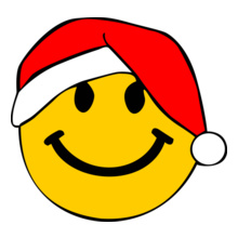 Santa-Smiley-Face T-Shirt