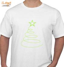 Christmas Simple-ribbon-Christmas-tree-FUNKY T-Shirt