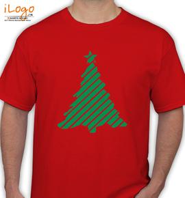 white ornament christmas tree - T-Shirt