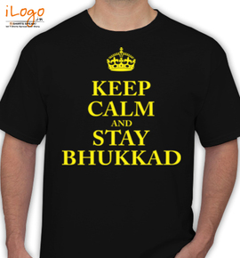 Keep-Calm-Bhukkad- - T-Shirt