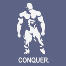 Mr.Olympia-Bodybuilding-Vector-Conquer-Design-T-Shirts T-Shirt