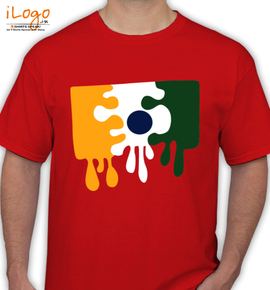 Paint Your Own India Flag T Shirt - T-Shirt