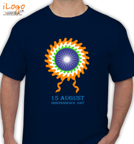 vintage indian independence day - T-Shirt
